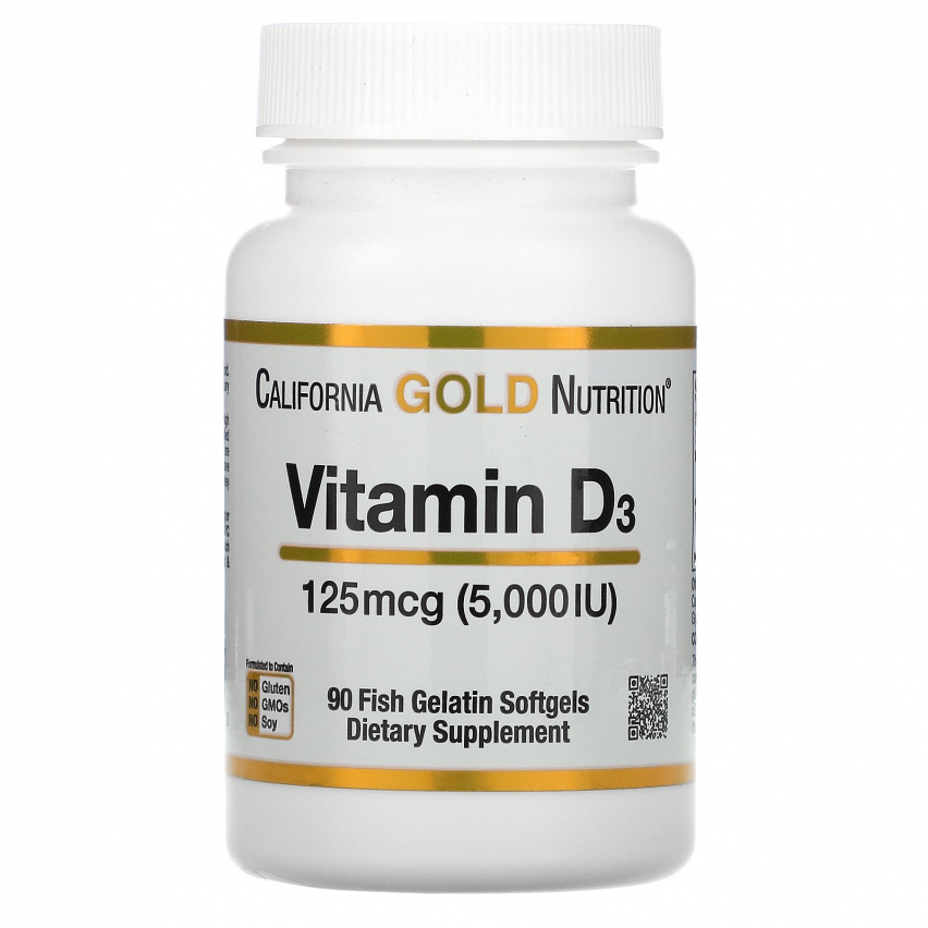 Vitamin D3 California Gold Nutrition 5000 МЕ