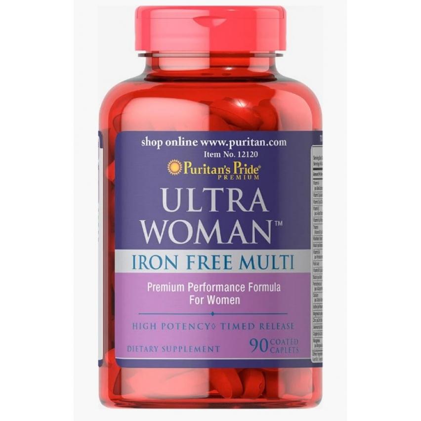 """Ultra Women Daily Multi Iron Free """"Puritan's Pride"""" (90 таб)"""